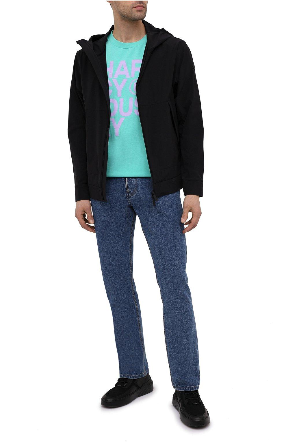 Мужская хлопковая футболка PHARMACY INDUSTRY голубого цвета, арт. PHM227 | Фото 2