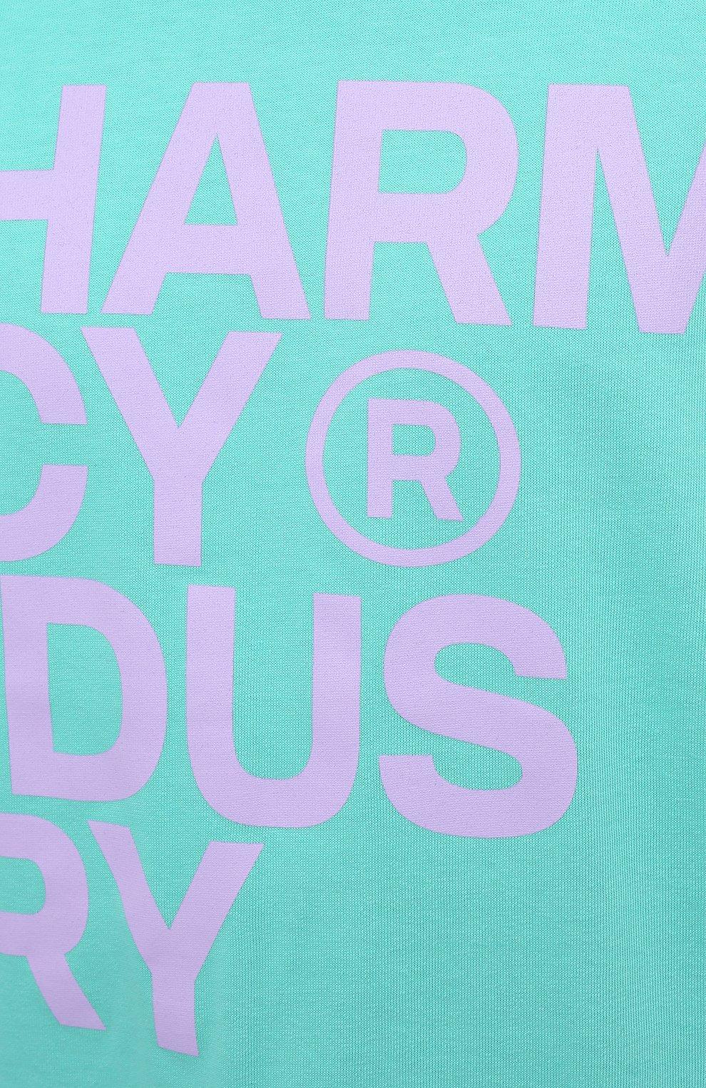Мужская хлопковая футболка PHARMACY INDUSTRY голубого цвета, арт. PHM227 | Фото 5