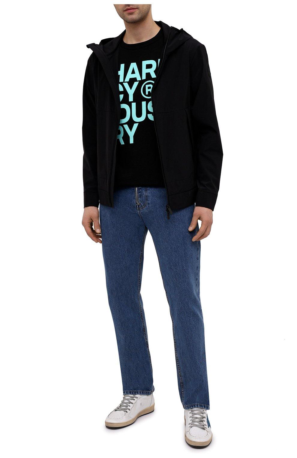 Мужская хлопковая футболка PHARMACY INDUSTRY черного цвета, арт. PHM227   Фото 2