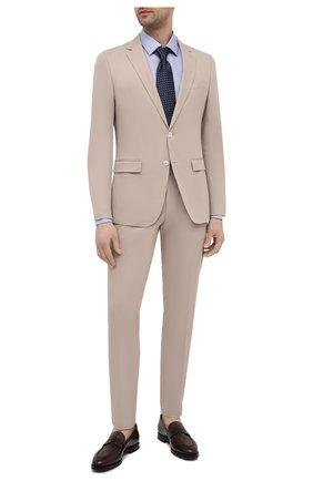 Мужской хлопковый костюм BOSS бежевого цвета, арт. 50450532 | Фото 1