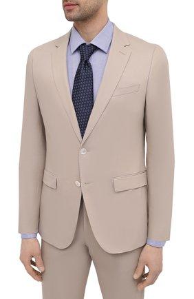 Мужской хлопковый костюм BOSS бежевого цвета, арт. 50450532 | Фото 2