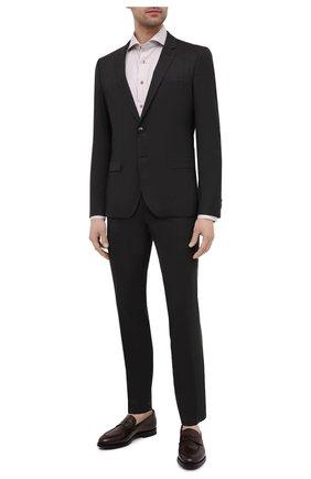 Мужской шерстяной костюм HUGO темно-коричневого цвета, арт. 50453806 | Фото 1