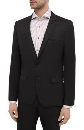 Мужской шерстяной костюм HUGO темно-коричневого цвета, арт. 50453806 | Фото 2