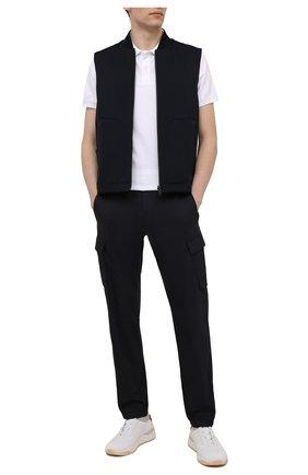 Мужские хлопковые брюки-карго BOGNER темно-синего цвета, арт. 18013753 | Фото 2
