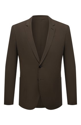 Мужской хлопковый пиджак HUGO хаки цвета, арт. 50451538   Фото 1 (Длина (для топов): Стандартные; Материал внешний: Хлопок; Рукава: Длинные; 1-2-бортные: Однобортные; Случай: Повседневный; Стили: Кэжуэл; Пиджаки М: Приталенный)