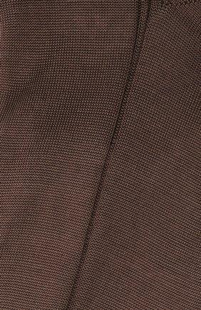 Мужские шелковые носки BRIONI коричневого цвета, арт. 0VMC/P3Z21 | Фото 2 (Материал внешний: Шелк; Кросс-КТ: бельё)