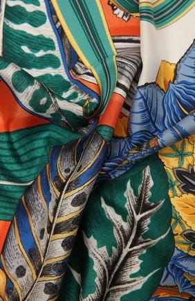 Женский шелковый платок SALVATORE FERRAGAMO синего цвета, арт. Z-0739871   Фото 2