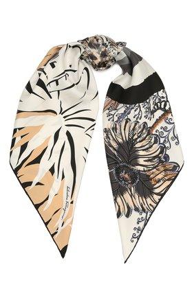 Женский шелковый платок SALVATORE FERRAGAMO черно-белого цвета, арт. Z-0742976   Фото 1