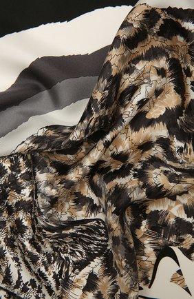 Женский шелковый платок SALVATORE FERRAGAMO черно-белого цвета, арт. Z-0742976   Фото 2