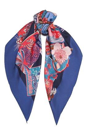 Женский шелковый платок SALVATORE FERRAGAMO синего цвета, арт. Z-0742961   Фото 1