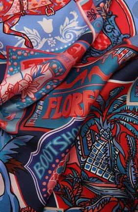 Женский шелковый платок SALVATORE FERRAGAMO синего цвета, арт. Z-0742961   Фото 2