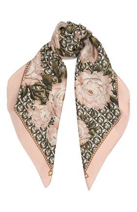 Женский шелковый платок SALVATORE FERRAGAMO светло-розового цвета, арт. Z-0717573   Фото 1