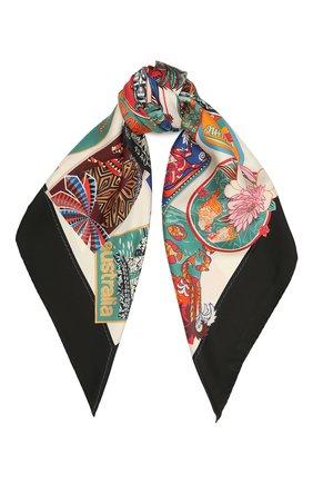 Женский шелковый платок SALVATORE FERRAGAMO разноцветного цвета, арт. Z-0742958   Фото 1