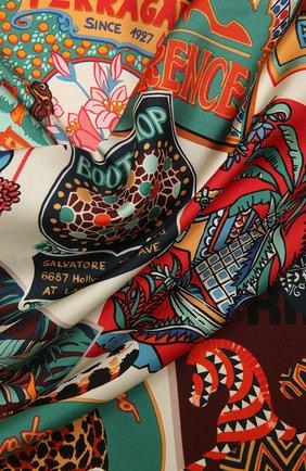 Женский шелковый платок SALVATORE FERRAGAMO разноцветного цвета, арт. Z-0742958   Фото 2