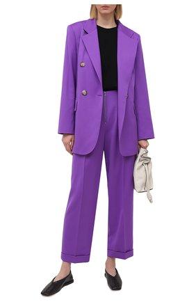 Женские брюки из шерсти JM STUDIO фиолетового цвета, арт. JMSS2102 | Фото 2