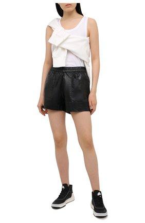 Женские текстильные кроссовки treino ADIDAS BY STELLA MCCARTNEY черно-белого цвета, арт. FX1955 | Фото 2