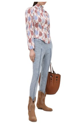 Женские джинсы со штрипками ISABEL MARANT голубого цвета, арт. PA1825-21P015I/NAN0ULI | Фото 2