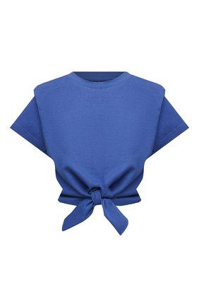 Женская хлопковая футболка ISABEL MARANT синего цвета, арт. TS0780-21P027I/ZELIT0 | Фото 1
