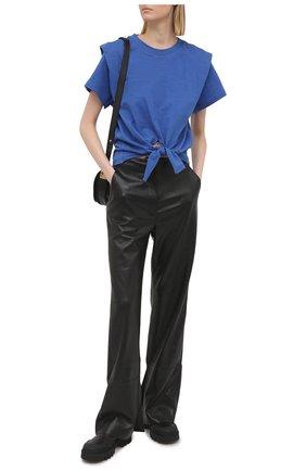 Женская хлопковая футболка ISABEL MARANT синего цвета, арт. TS0780-21P027I/ZELIT0 | Фото 2