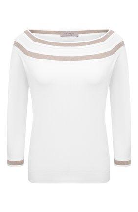 Женский пуловер из вискозы D.EXTERIOR белого цвета, арт. 52271   Фото 1