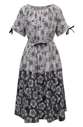 Женское хлопковое платье MONCLER синего цвета, арт. G1-093-2G712-10-5956S | Фото 1