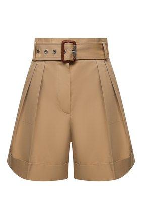 Женские хлопковые шорты ALEXANDER MCQUEEN бежевого цвета, арт. 654559/QFAAK | Фото 1