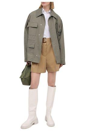 Женские хлопковые шорты ALEXANDER MCQUEEN бежевого цвета, арт. 654559/QFAAK | Фото 2