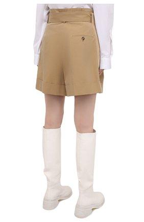 Женские хлопковые шорты ALEXANDER MCQUEEN бежевого цвета, арт. 654559/QFAAK | Фото 4