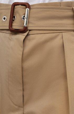Женские хлопковые шорты ALEXANDER MCQUEEN бежевого цвета, арт. 654559/QFAAK | Фото 5