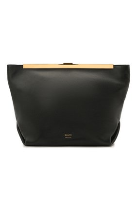 Женская сумка augusta KHAITE черного цвета, арт. H3002-712/AUGUSTA | Фото 1 (Материал: Натуральная кожа; Размер: medium; Ремень/цепочка: На ремешке; Сумки-технические: Сумки через плечо)