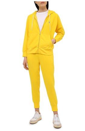 Женский хлопковая толстовка POLO RALPH LAUREN желтого цвета, арт. 211780303   Фото 2