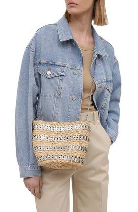 Женская сумка 1969 PACO RABANNE бежевого цвета, арт. 21PSS0227MET152 | Фото 2