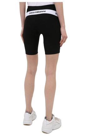 Женские шорты из вискозы PACO RABANNE черного цвета, арт. 19EJPA006VI0071   Фото 3