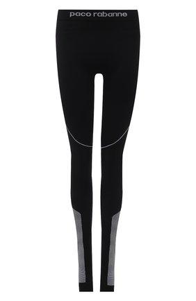 Женские леггинсы PACO RABANNE черного цвета, арт. 19EJPA003PA0135 | Фото 1