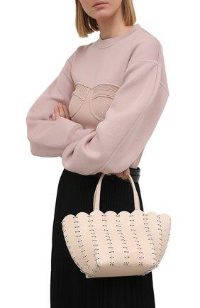 Женская сумка pacoio cab mini PACO RABANNE бежевого цвета, арт. 21PSS0197CLF037 | Фото 2