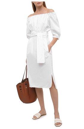 Женское хлопковое платье TELA белого цвета, арт. 01 0151 01 0005 | Фото 2