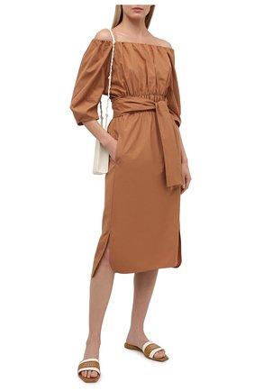 Женское хлопковое платье TELA светло-коричневого цвета, арт. 01 0151 01 0005 | Фото 2