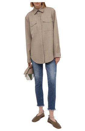 Женские джинсы MOUSSY синего цвета, арт. 025ESC12-1170 | Фото 2