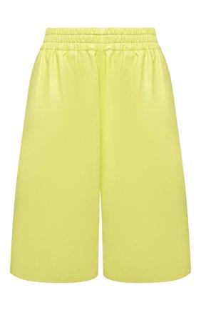 Женские кожаные шорты BOTTEGA VENETA светло-зеленого цвета, арт. 633445/VKLC0 | Фото 1 (Стили: Гламурный; Женское Кросс-КТ: Шорты-одежда; Кросс-КТ: Широкие; Длина Ж (юбки, платья, шорты): Мини)