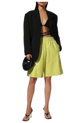Женские кожаные шорты BOTTEGA VENETA  цвета, арт. 633445/VKLC0 | Фото 2