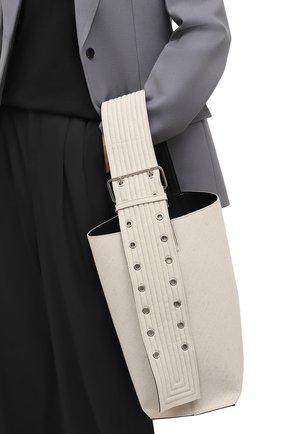 Женская сумка quilted large JIL SANDER белого цвета, арт. JSPS852514-WSB73014N   Фото 2