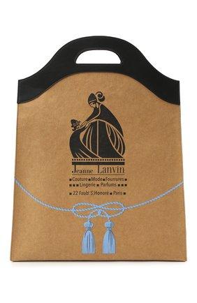 Женская сумка LANVIN бежевого цвета, арт. LM-BGNT00-KRB0-P21   Фото 1