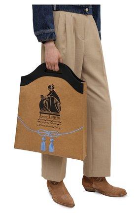 Женская сумка LANVIN бежевого цвета, арт. LM-BGNT00-KRB0-P21   Фото 2