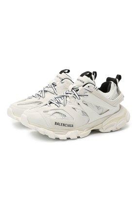 Женские комбинированные кроссовки track BALENCIAGA белого цвета, арт. 542436/W3AC1   Фото 1
