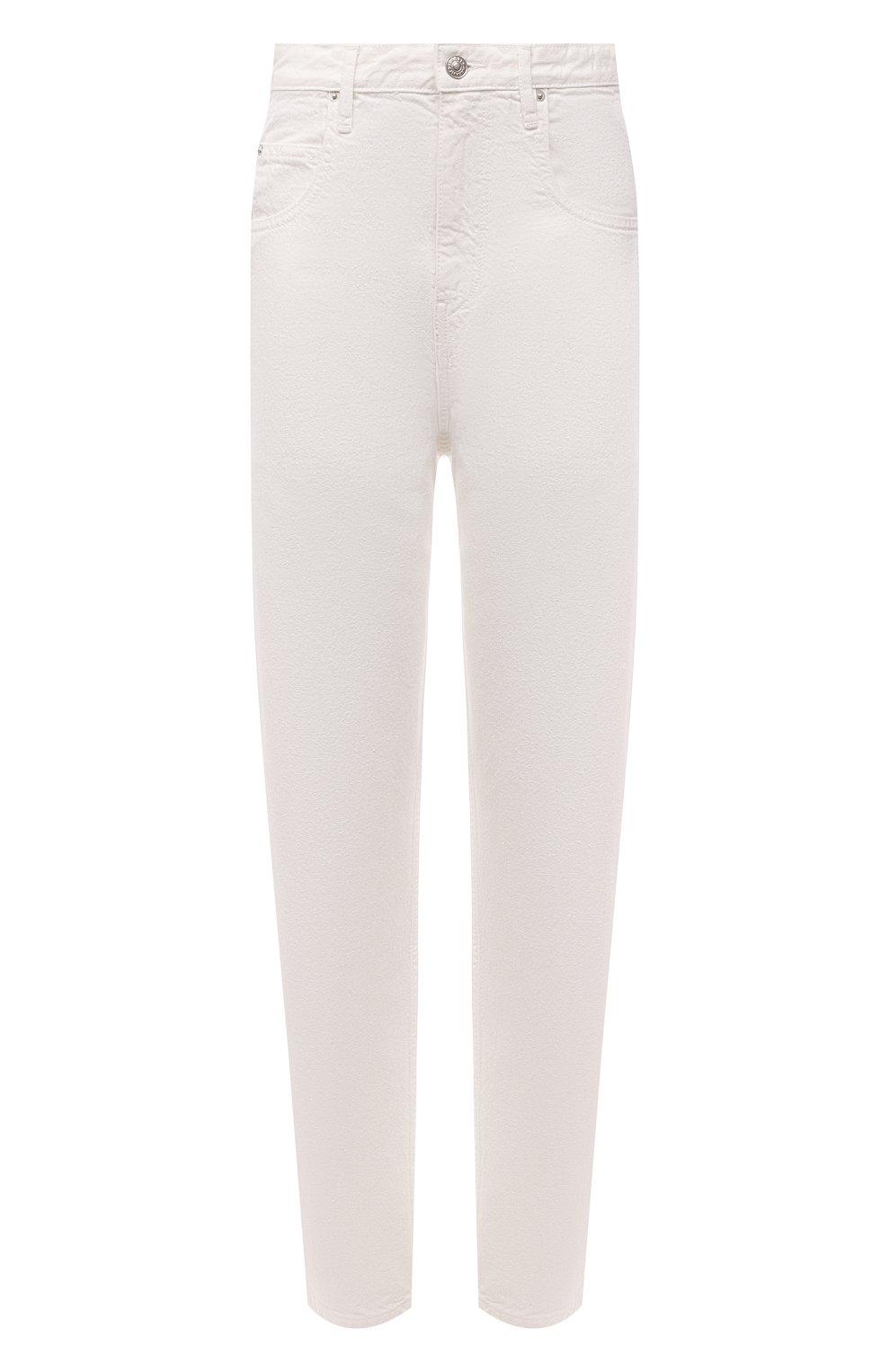 Женские джинсы ISABEL MARANT ETOILE белого цвета, арт. PA1844-21P065E/C0RFY | Фото 1 (Кросс-КТ: Деним; Длина (брюки, джинсы): Стандартные; Силуэт Ж (брюки и джинсы): Прямые; Материал внешний: Хлопок; Стили: Кэжуэл)