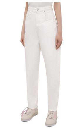 Женские джинсы ISABEL MARANT ETOILE белого цвета, арт. PA1844-21P065E/C0RFY | Фото 3 (Кросс-КТ: Деним; Длина (брюки, джинсы): Стандартные; Силуэт Ж (брюки и джинсы): Прямые; Материал внешний: Хлопок; Стили: Кэжуэл)