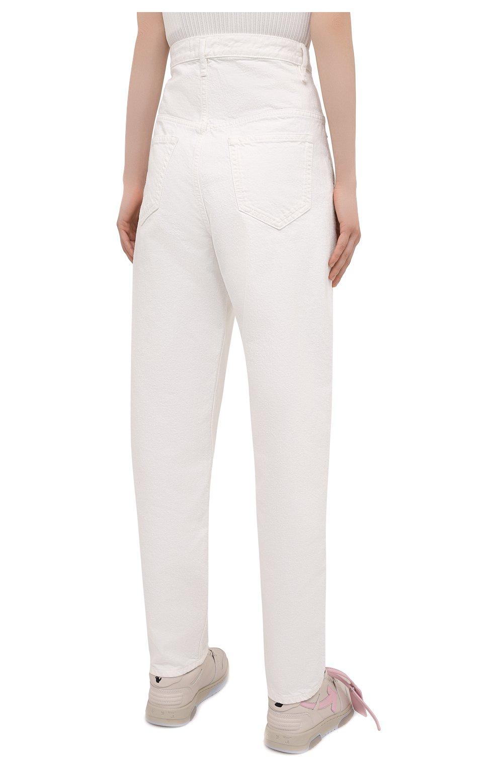 Женские джинсы ISABEL MARANT ETOILE белого цвета, арт. PA1844-21P065E/C0RFY | Фото 4 (Кросс-КТ: Деним; Длина (брюки, джинсы): Стандартные; Силуэт Ж (брюки и джинсы): Прямые; Материал внешний: Хлопок; Стили: Кэжуэл)