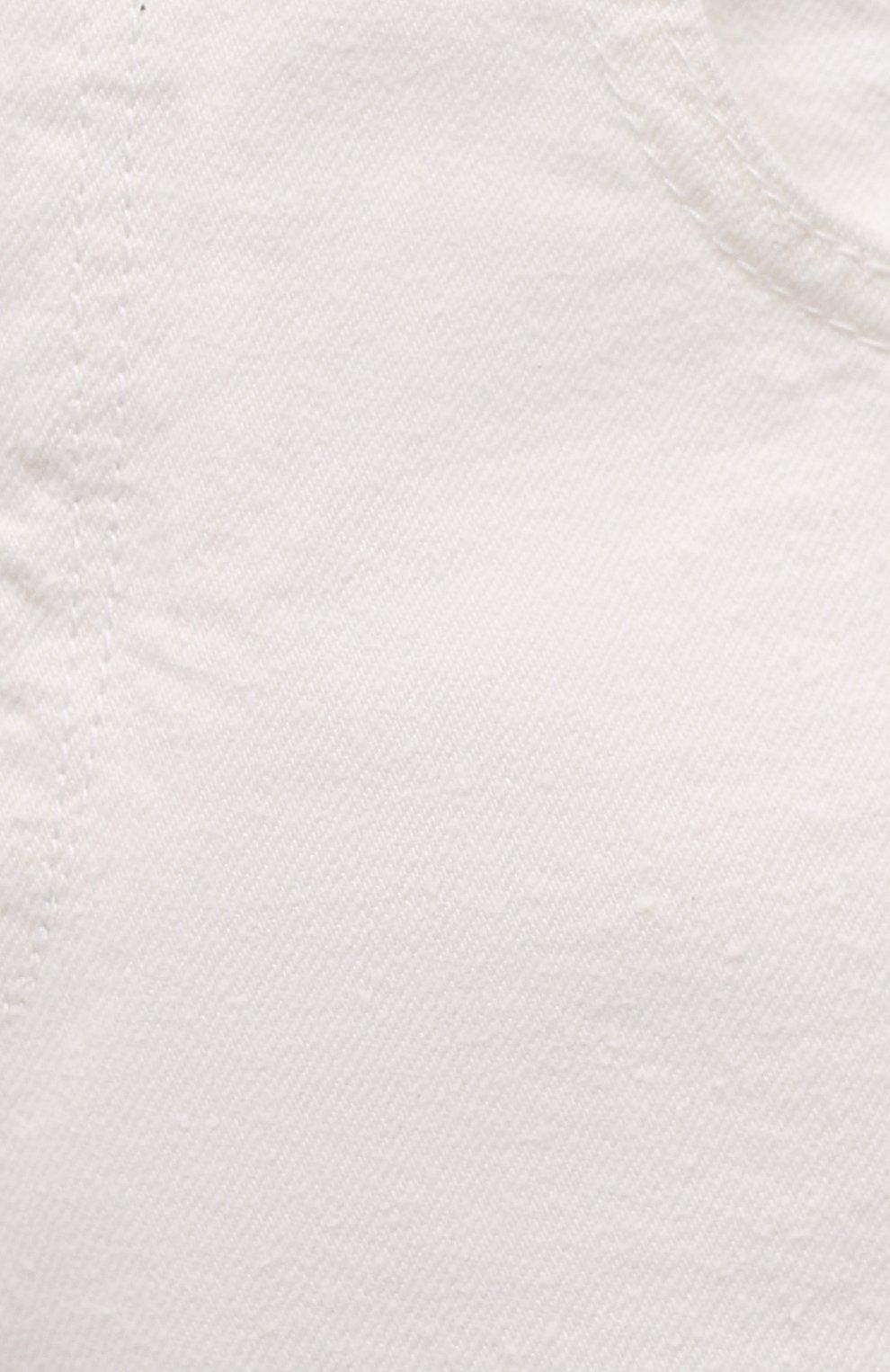 Женские джинсы ISABEL MARANT ETOILE белого цвета, арт. PA1844-21P065E/C0RFY | Фото 5 (Кросс-КТ: Деним; Длина (брюки, джинсы): Стандартные; Силуэт Ж (брюки и джинсы): Прямые; Материал внешний: Хлопок; Стили: Кэжуэл)