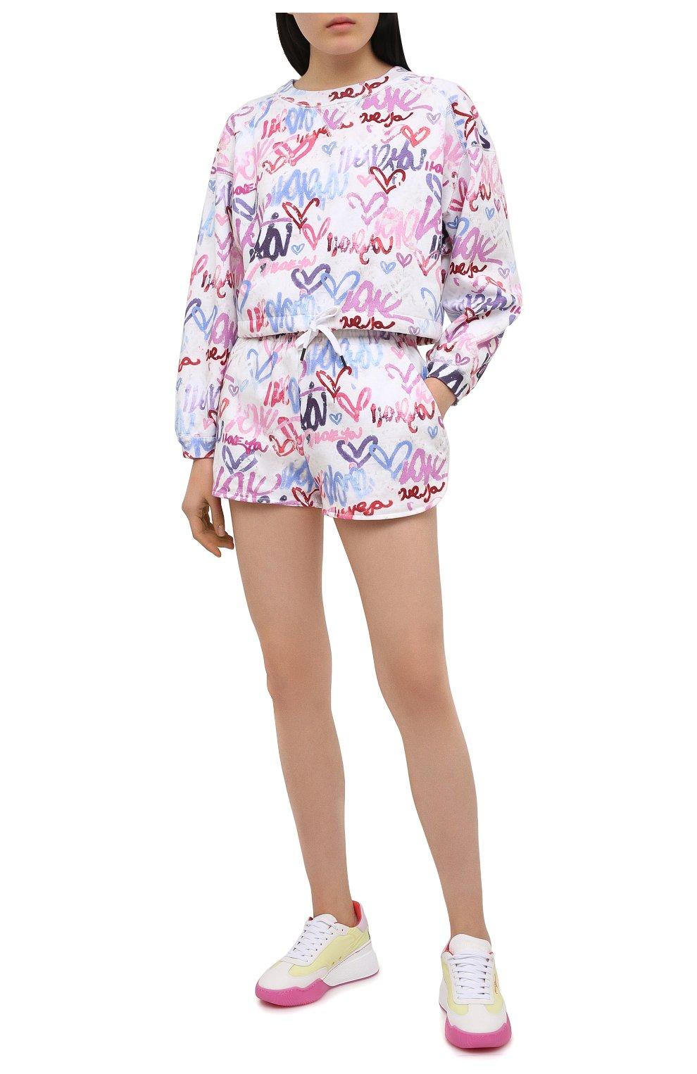 Женские хлопковые шорты ISABEL MARANT разноцветного цвета, арт. SH0404-21E037I/MIFIKIA | Фото 2