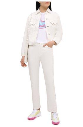 Женская хлопковая футболка ISABEL MARANT белого цвета, арт. TS0619-21E038I/ZA0F | Фото 2